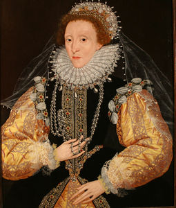 George Gower - Portrait Of Queen Elizabeth I The Drewe Portrait