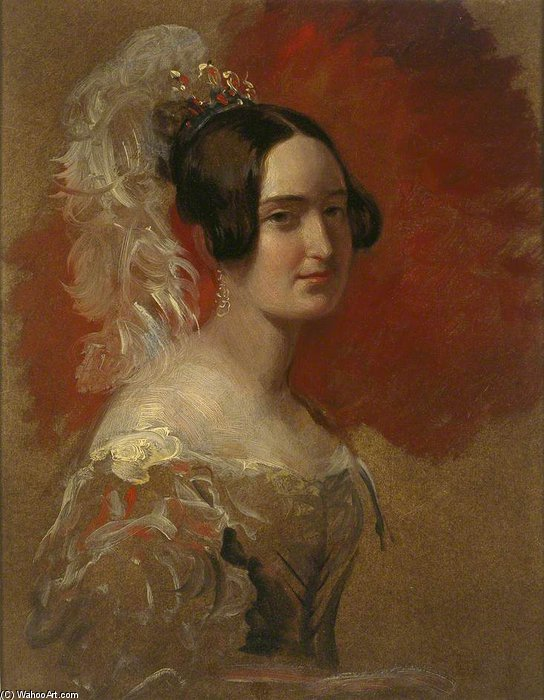 Anna Feodorovna, Princess Hohenlohe-langenburg by George Hayter (1792-1871, United Kingdom) | Reproductions George Hayter | WahooArt.com
