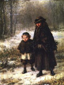 George Henry Boughton - A Winter Morning's Walk