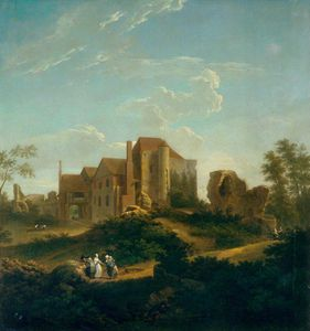 Order Paintings Reproductions | Ruins Of Leybourne Castle, Kent, From The South West by George Lambert (1873-1930, Russia) | WahooArt.com