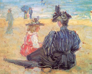 George Loftus Noyes - Beach Scene