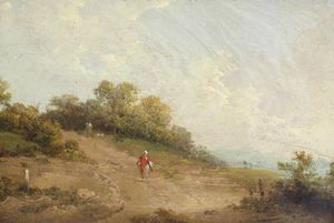 George Morland - A Sandy Track