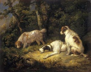 George Morland - Dogs
