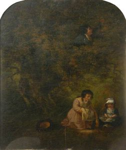 George Morland - Gathering Fruit