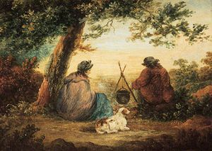 George Morland - Gipsy Camp