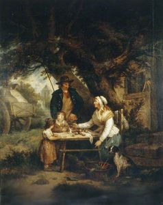 George Morland - Selling Carrots