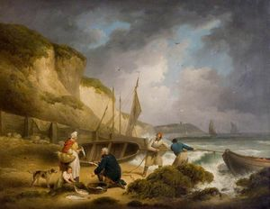 George Morland - Selling Fish