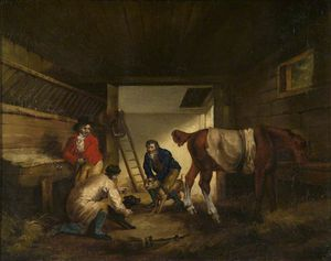 George Morland - Stable Amusement