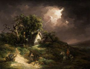 George Morland - The Coming Storm, Isle Of Wight