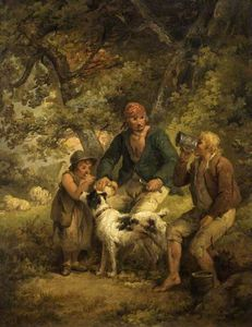 George Morland - The Peasants' Repast