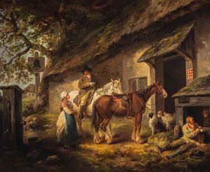 George Morland - The Public House Door