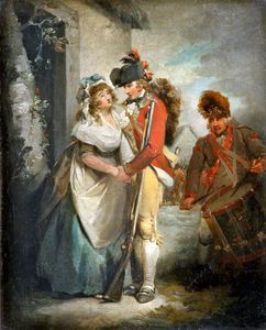 George Morland - The Soldier's Departure