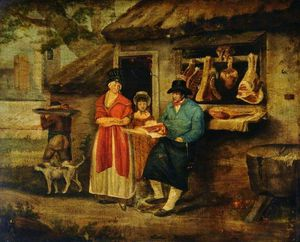 George Morland - The Village Butcher