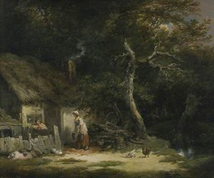 George Morland - The Woodman-s Cottage
