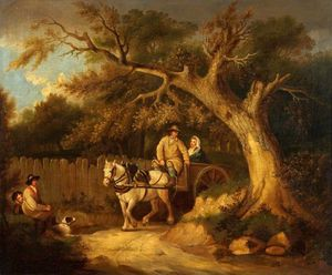 George Morland - Through The Wood