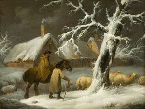 George Morland - Winter Landscape