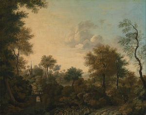 George Smith - A View Supposedly Near Arundel, Sussex