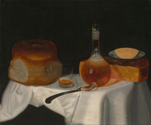 George Smith - Still Life Of Bread, Butter And Cheese