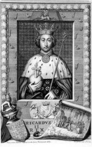George Vertue - Richard Ii King Of England 1377-99, After A Painting In Westminster Abbey, Engraved By T