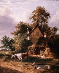 George Vincent - Farmyard Scene