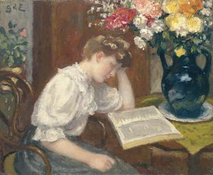 Georges Despagnat - Woman Reading