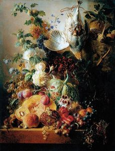 Georgius Jacobus Johannes Van Os - Still-life Of Fruit