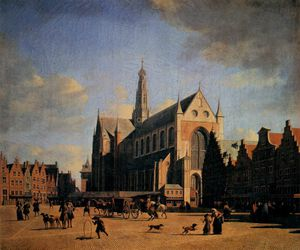 Gerrit Adriaenszoon Berckheyde - The Great Market In Haarlem