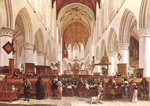 Gerrit Adriaenszoon Berckheyde - The Interior Of The Grote Kerk (st Bavo) At Haarlem