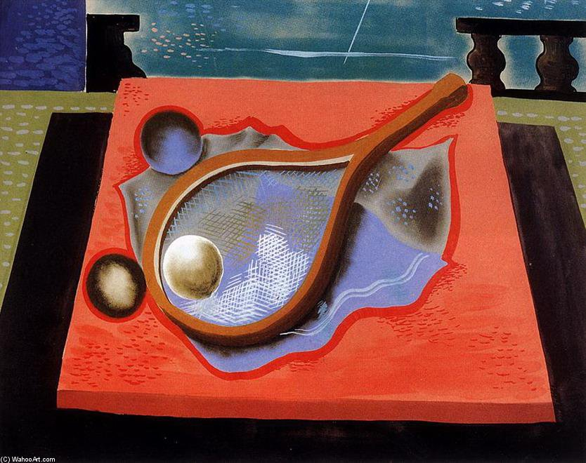 Still Life With Tennis Racket by Geza Bene (1900-1960, Slovakia) | Oil Painting | WahooArt.com