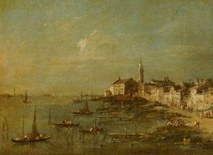 Giacomo Piazzetta - View Of The Giudecca And The Church Of Santa Marta, Venice
