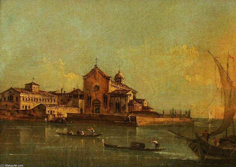 View Of The Island Of Sant`elena, Venice by Giacomo Piazzetta (1640-1705, Italy) | Museum Quality Reproductions | WahooArt.com