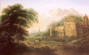Gilles Neyts - Landscape With Ruins Of A Fortress