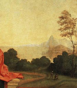Giorgione (Giorgio Barbarelli Da Castelfranco) - Madonna And Child Enthroned Between St Francis And St Liberalis (detail)_3