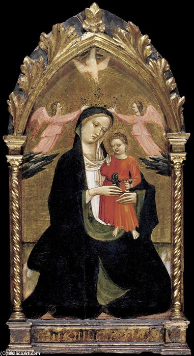 Madonna And Child With Two Angels by Giovanni Dal Ponte (1385-1438, Italy)
