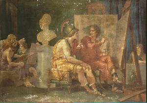 Giuseppe Cades - Alexander The Great In The Workshop Of Apelles