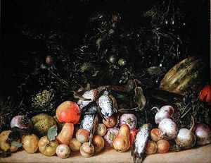 Gottfried Libalt - Still Life With Fruit And Vegetables