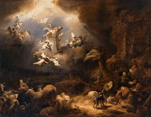 Govert Teunisz Flinck - Angels Announcing The Birth Of Christ To The Shepherds