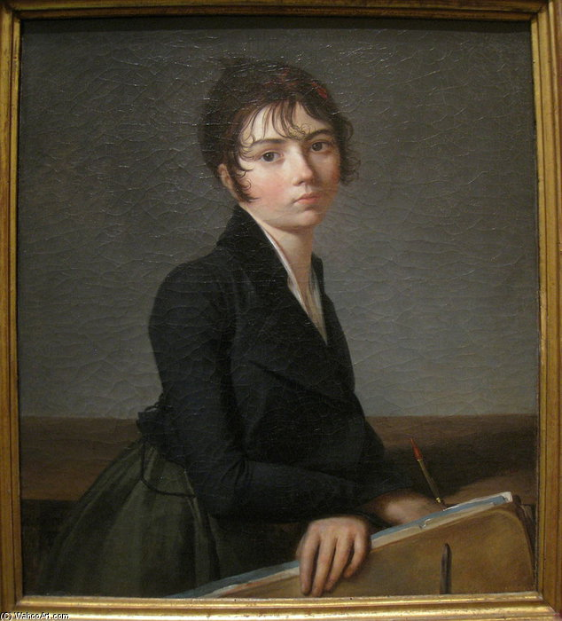 Girl With Portfolio by Guillaume Lethière (1760-1832, France)