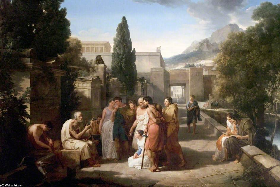 Homer Singing His Iliad At The Gate Of Athens by Guillaume Lethière (1760-1832, France)