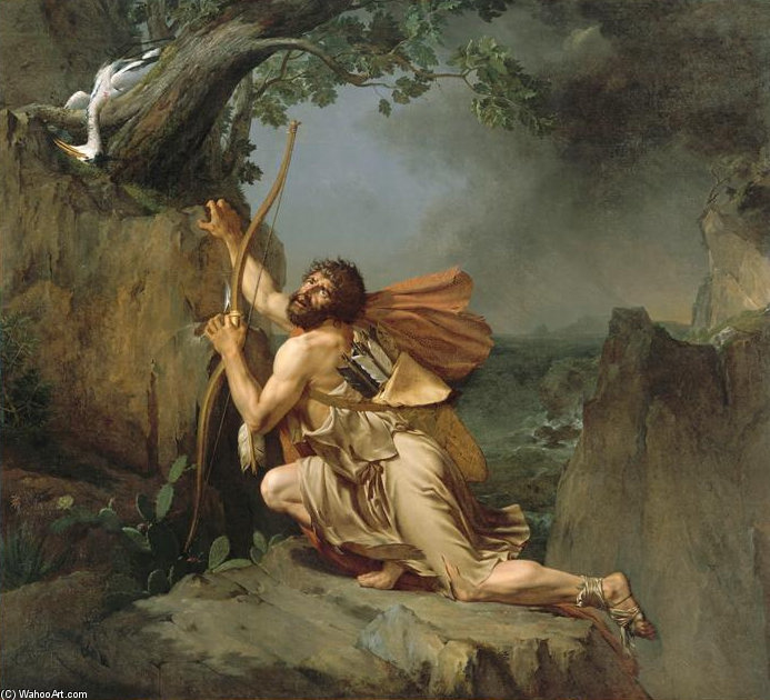 Philoctetes On The Island Of Lemnos by Guillaume Lethière (1760-1832, France) | WahooArt.com