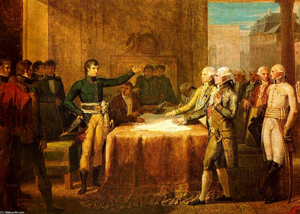 Preliminaries Of The Peace Signed At Leoben by Guillaume Lethière (1760-1832, France)