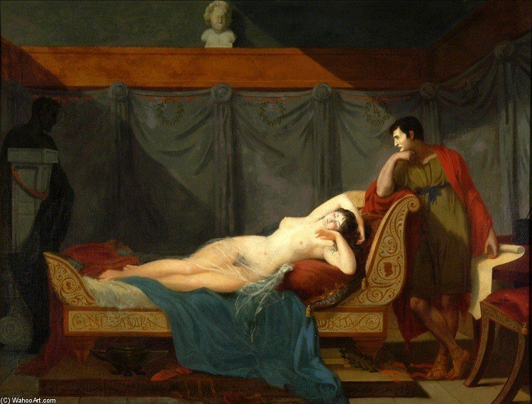 The Sleep Of Venus by Guillaume Lethière (1760-1832, France)