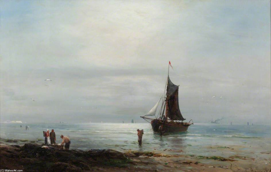 Order Paintings Reproductions | Coastal Scene by Gustave De Breanski (1856-1898, United Kingdom) | WahooArt.com
