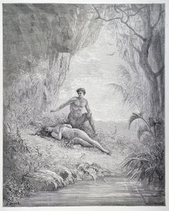 Paul Gustave Doré - Adam And Eve