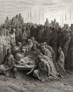 Paul Gustave Doré - Death Of Baldwin I The Latin King Of Jerusalem