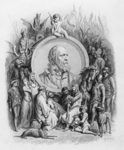 Paul Gustave Doré - Frontispiece To 'idylls Of The King' With A Portrait Of Alfred Lord