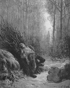 Paul Gustave Doré - Illustration For Death And The Woodcutter