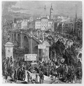 Paul Gustave Doré - London Bridge, Engraved By Stephane Pannemaker
