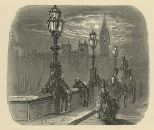Paul Gustave Doré - People And Carriages On Westminster Bridge