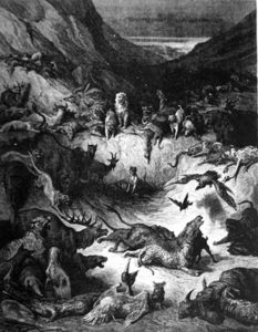 Paul Gustave Doré - The Animals Fallen Sick With The Plague